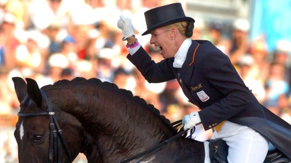 Anky van Grunsven, an equestrian from the Netherlands, has won three gold medals at the Olympic Games in Sydney, Athens and Hong Kong. During the 2004 Games, she competed while five months into her pregnancy. Victory was hers: She won gold.
