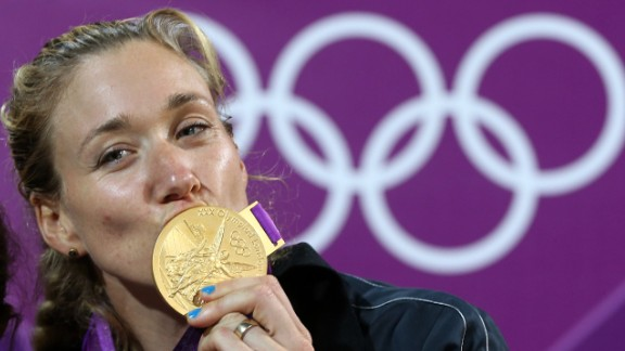 Kerri Walsh Jennings, a volleyball athlete, won her third gold medal at the 2012 Games in London. Only later did she realize she had competed -- and won the top prize -- while pregnant.