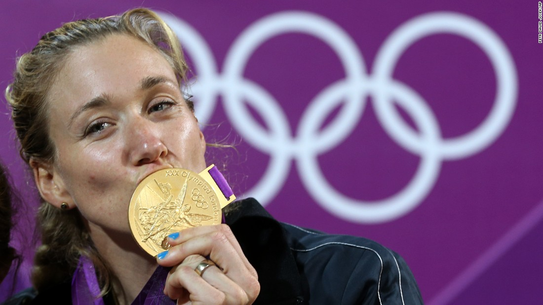 "<a href=""http://www.teamusa.org/usa-volleyball/athletes/Kerri-Walsh"" target=""_blank"">Kerri Walsh Jennings</a>, a volleyball athlete, won her third gold medal at the 2012 Games in London. Only later did she realize she had competed -- and won the top prize -- while pregnant."