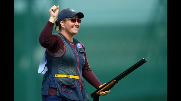 Kim Rhode, a member of the U.S. shooting team, has won six medals, including three golds, in six consecutive Olympic games. Like Walsh, she discovered weeks after the London Olympics that she was pregnant while competing. And also like Walsh, she won the top prize.