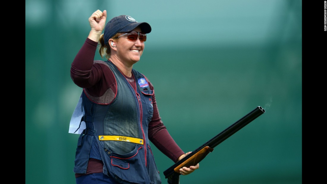 "<a href=""http://www.usashooting.org/12-the-team/usashootingteam/nationalteam/nationalshotgunteam/kimrhode"" target=""_blank"">Kim Rhode</a>, a member of the U.S. shooting team, has won six medals, including three golds, in six consecutive Olympic games. Like Walsh, she discovered weeks after the London Olympics that she was pregnant while competing. And also like Walsh, she won the top prize."