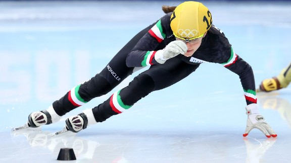 Short-track speed-skater Martina Valcepina represented Italy at the 2010 Olympic games in Vancouver at age 17 and returned to the Sochi Games in 2014. During the Sochi Games, she was carrying not one baby, but two. One month into her twin pregnancy, she brought home a bronze medal from Russia.