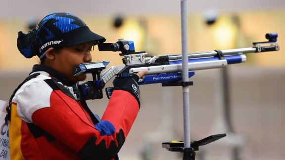 Sharpshooter Nur Suryani Mohd Taibi competed for Malaysia while eight months pregnant. Before the 2012 games, she told AFP that the added weight of carrying her first child brought her added stability in her shooting stance.