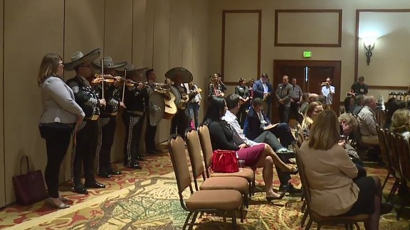 The members of the six-piece mariachi band played with one purpose in mind -- getting Gardner