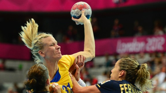 Swedish handball player Anna-Maria Johansson competed in the London Games in 2012 while three months pregnant. Following her intense participation in the games, she took a year off to become a mom and then returned to her sport.