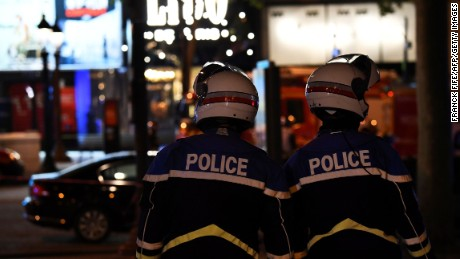 One police officer was killed in a shooting on the Champs-Elysees.