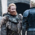 Kristofer Hivju as Tormund Giantsbane and Gwendoline Christie as Brienne of Tarth