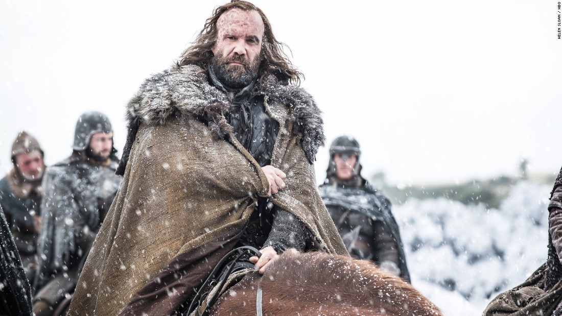"Rory McCann as Sandor ""The Hound"" Clegane"