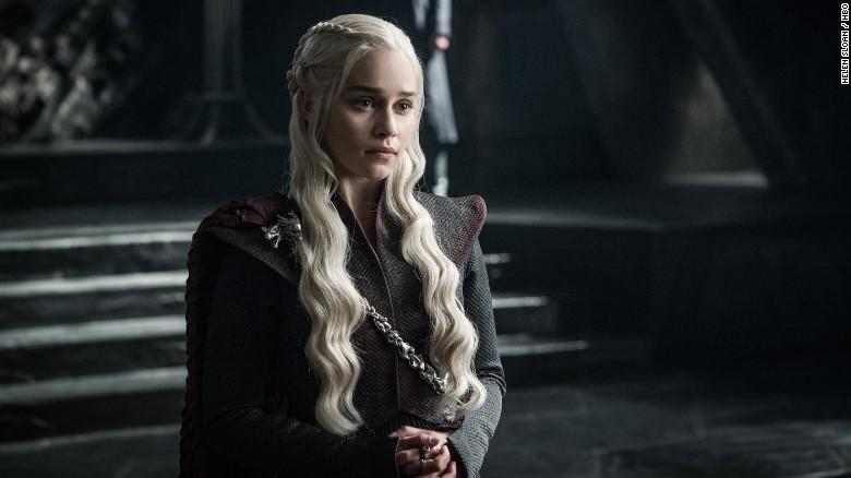 Emilia Clarke as Daenerys Targaryen, one of the show's many strong women.