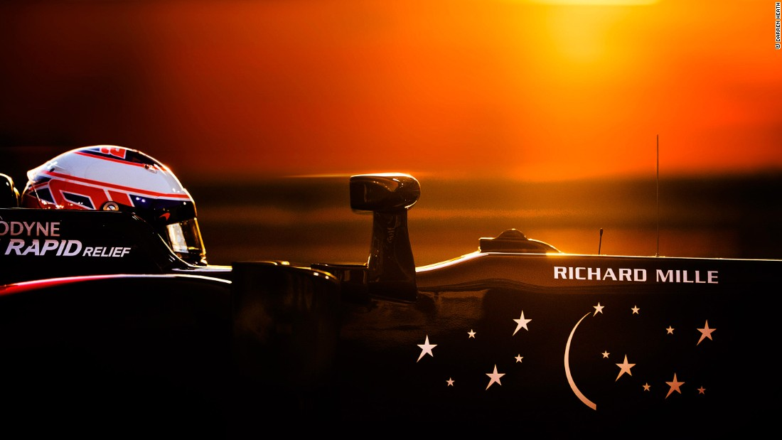 """Bahrain is very different because the race starts in sunset conditions and transfers into night time.""<br />© Darren Heath"