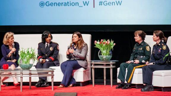 An all-female law enforcement panel at a recent women