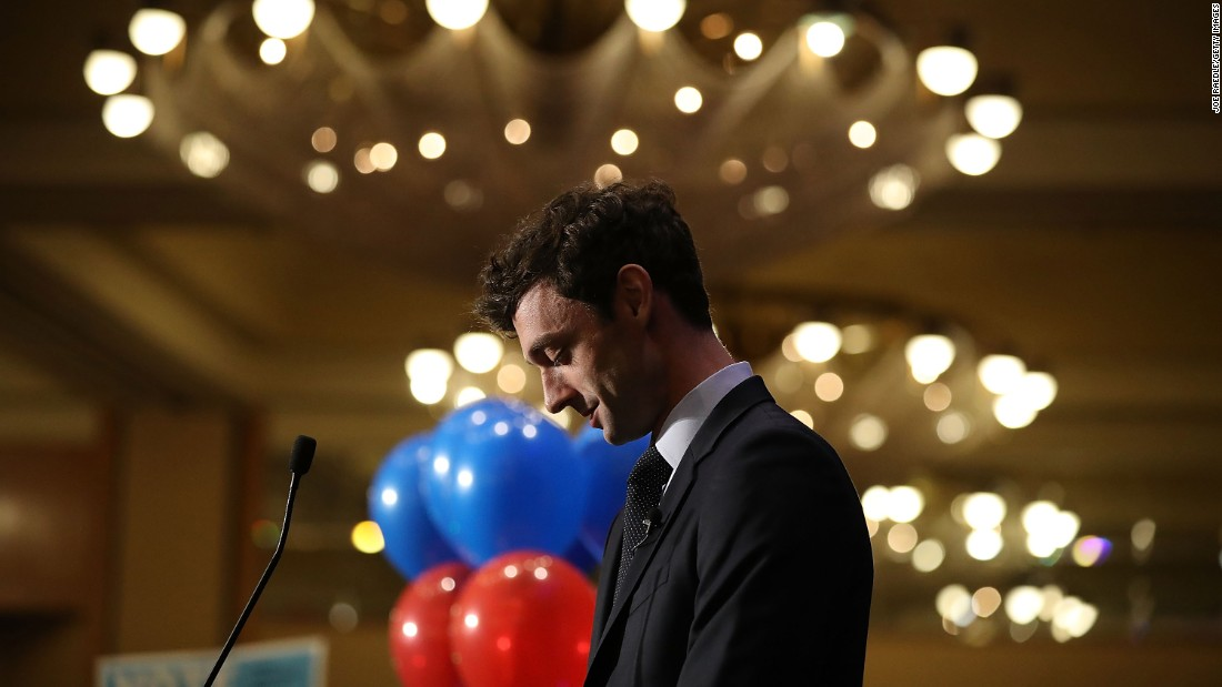 "Democratic candidate Jon Ossoff speaks to his supporters in Atlanta as votes continue to be counted in the Georgia's 6th Congressional District special election on Tuesday, April 18. <a href=""http://www.cnn.com/2017/04/18/politics/georgia-house-6th-special-election-jon-ossoff/index.html"" target=""_blank"">Ossoff fell just short</a> of the 50% he needed to win and will face off in June with the other top vote-getter, Republican Karen Handel. The race is to replace Tom Price, who is now President Donald Trump's health and human services secretary."
