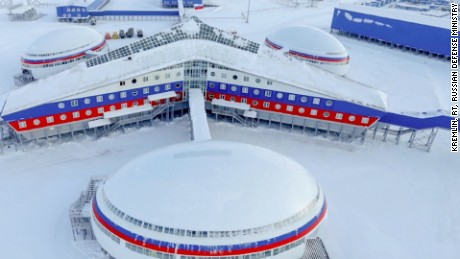 Putin in building strategic bases in the Arctic -- visiting a new one recently in Alexandra Land. What is he up to?