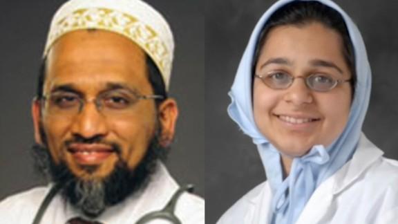 Dr. Fakhruddin Attar (left) and  Dr. Jumana Nagarwala