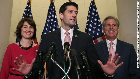 House Speaker Paul Ryan and House Majority Leader Kevin McCarthy are two members of Congress, both Republicans, who've said they've slept in their offices before.
