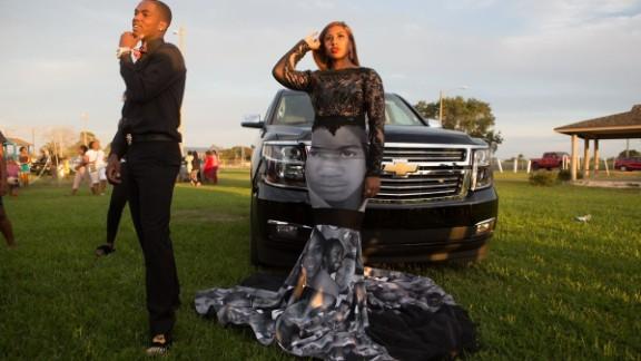 The dress was designed by Florida-based designer Terrence Torrence