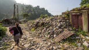 Rebuilding a Nepali village, one block at a time