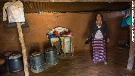 Sunita Tamang has lived in a make-shift shelter for two years.