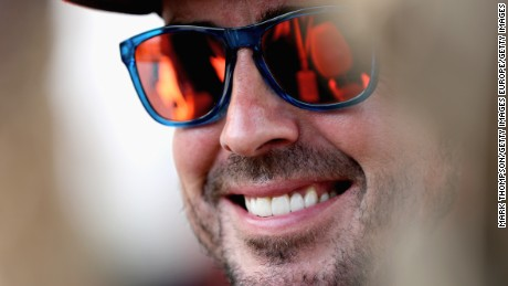 BAHRAIN, BAHRAIN - APRIL 13:  Fernando Alonso of Spain and McLaren Honda in the Paddock during previews to the Bahrain Formula One Grand Prix at Bahrain International Circuit on April 13, 2017 in Bahrain, Bahrain.  (Photo by Mark Thompson/Getty Images)