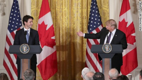 Trump says he made up trade claims in meeting with Trudeau
