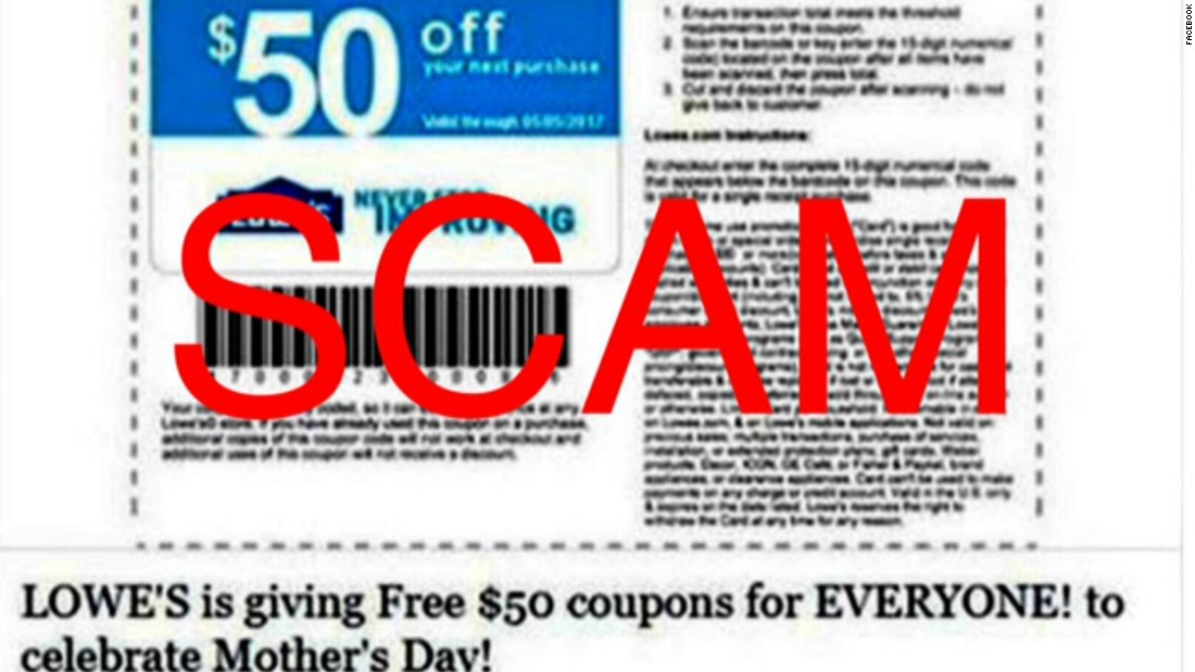 That Lowe S Mother S Day Coupon Doing The Facebook Rounds It S A Scam Cnn