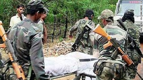 At least 25 police officers were killed in Monday's attack in Chhattisgarh.