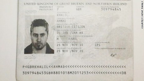 A certified copy of Ahmed Khalil's passport shows his birthplace as Kabul in Afghanistan.