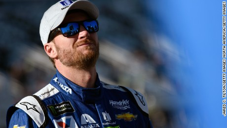 DAYTONA BEACH, FL - FEBRUARY 19:  Dale Earnhardt Jr., driver of the #88 Nationwide Chevrolet, stands on the grid during qualifying for the Monster Energy NASCAR Cup Series 59th Annual DAYTONA 500 at Daytona International Speedway on February 19, 2017 in Daytona Beach, Florida.  (Photo by Jared C. Tilton/Getty Images)