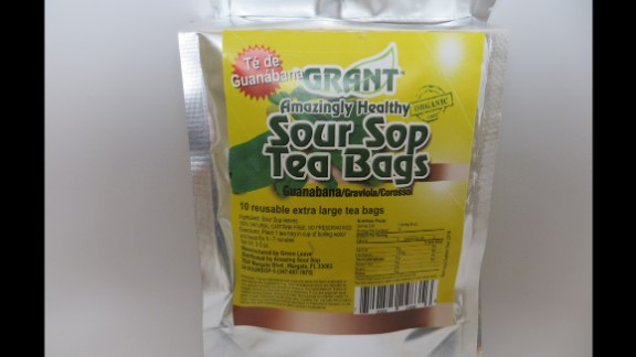Sour Sop Tea Bags, marketed and sold by Amazing Sour Sop Inc.