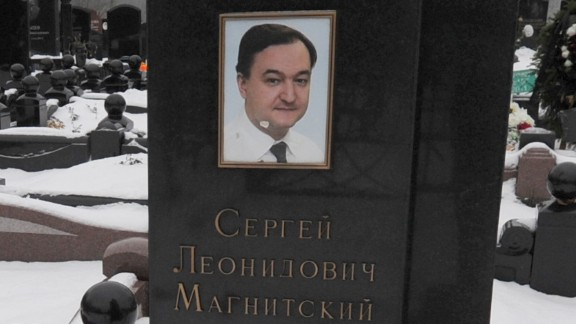 Grave site of Sergei Magnitsky.