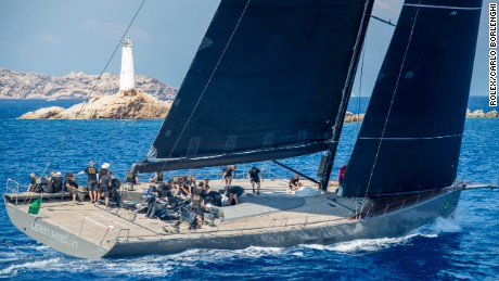 The Wally 107 Open Season in action during the 2016 Maxi Yacht Rolex Cup in Porto Cervo.