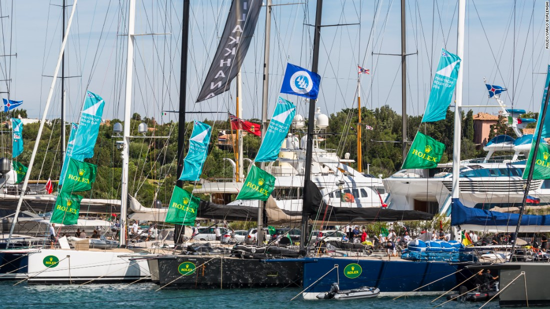 The fleet assembles in Porto Cervo marina for a week of hard racing and socializing.