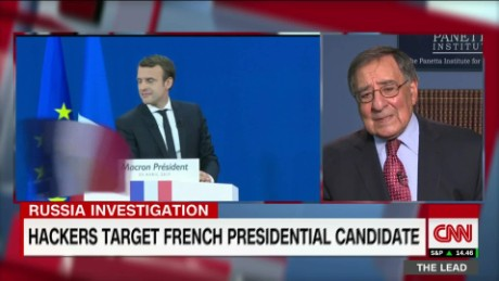 Panetta suspects Russia behind fake news in French election