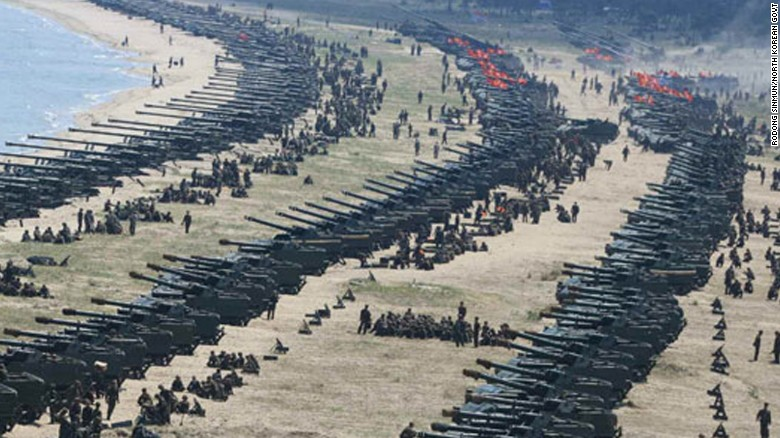 North Korea Carries Out Largescale Artillery Drill South Korea - Largest armies in the world