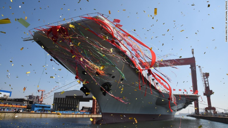 China's second aircraft carrier was launched at a ceremony on April 26, 2017
