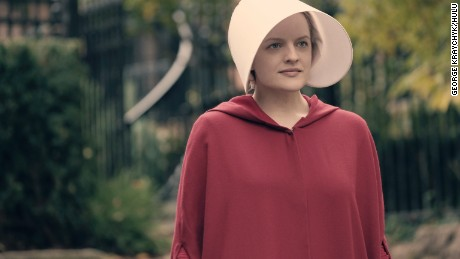 "Elisabeth Moss as Offred in Hulu's ""The Handmaid's Tale."""