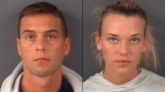 Jarren Heng, left, and Marinna Rollins were charged with felony animal cruelty.