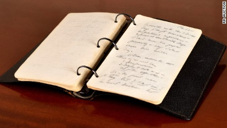 A glimpse of the diary JFK kept during the summer of 1945, shortly before running for Congress.