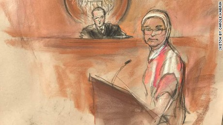 Farida Attar appears April 26 in federal court.