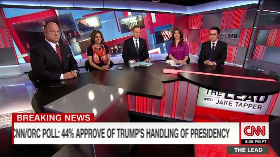 political panel discuss trump's record low approval the lead _00011330.jpg