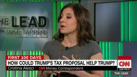 Cristina Alesci reports on Trump's tax proposals the lead _00004815