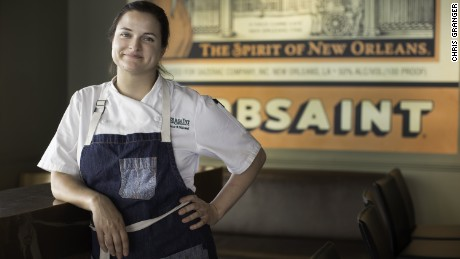 Herbsaint chef Rebecca Wilcomb at her New Orleans restaurant on Tuesday, April 24, 2017. PHOTO BY CHRIS GRANGER