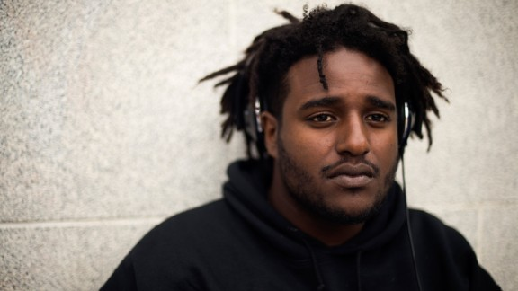 """UC Berkeley student Guutaa Regassa, 21, a junior studying sociology and environment. He says it's been a """"dark time"""" on campus since the November election and students seem to be arguing more."""