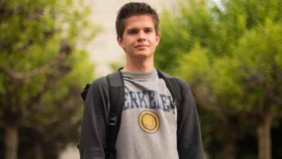 UC Berkeley student Ryan Kelley-Cahill, 19, a freshman studying business and political science, from Alameda.