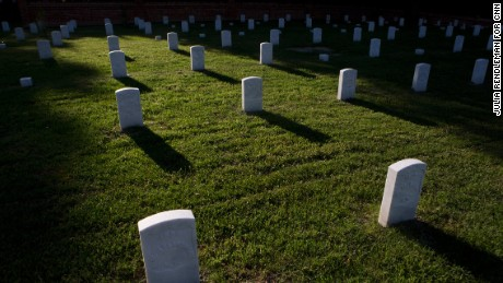 Over 6,100 men, mostly Union Civil War soldiers, are buried at Poplar Grove National Cemetery.