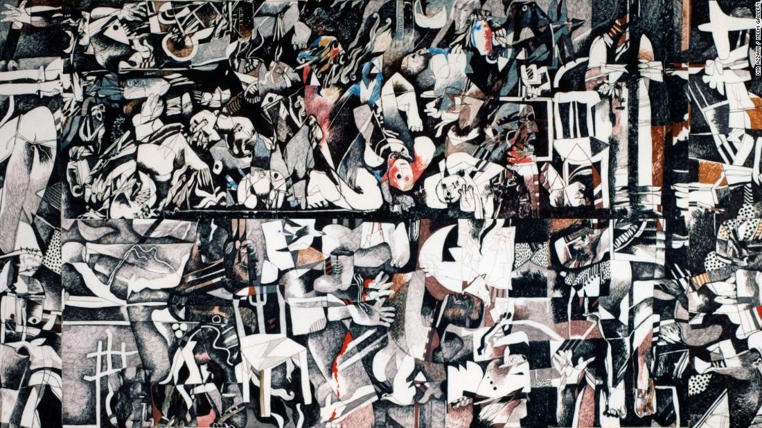 Dia Azzawi, Al Faytouri (1989) | Sale artwork, Artwork, Artist