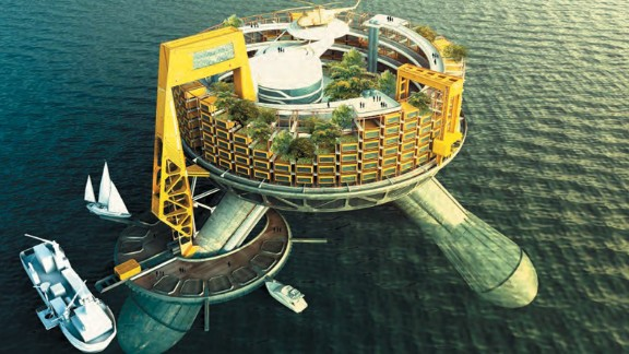 The first permanent businesses on the high seas could be sovereign floating hospitals that provide cutting-edge care to patients who choose them. Design concept by Edward McIntosh, 2014, Ecuador.
