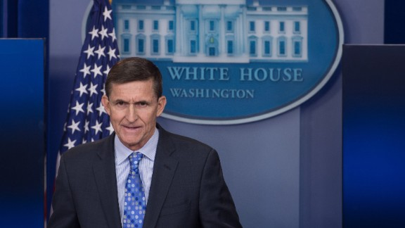 "US National Security Adviser Mike Flynn speaks during the daily press briefing at the White House in Washington, DC, on February 1, 2017. Flynn signaled a more hardline American stance on Iran Wednesday, condemning a recent missile test and declaring he was ""officially putting Iran on notice."" / AFP / NICHOLAS KAMM        (Photo credit should read NICHOLAS KAMM/AFP/Getty Images)"
