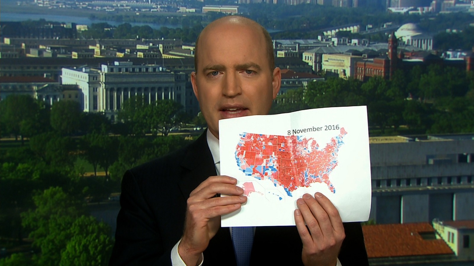 journalist trump brought printed map handouts of electoral wins to interview cnnpolitics