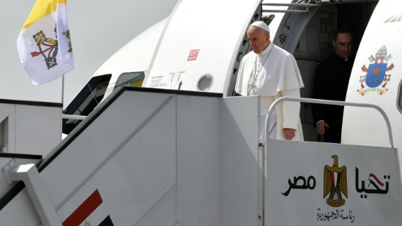 Pope Francis arrives Friday in Egypt for an official visit.